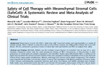 Safety of Cell Therapy with Mesenchymal Stromal Cells (SafeCell)- A Systematic Review and Meta-Analysis of Clinical Trials Innate Healthcare