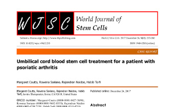 Umbilical cord blood stem cell treatment for a patient with psoriatic arthritis Innate Healthcare