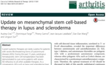 Update on mesenchymal stem cell-based therapy in lupus and scleroderma Innate Healthcare